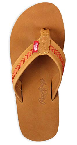 Rawlings Men's Baseball Stitch Nubuck Leather Sandals RF50000-204 (Tan, XXL) from Rawlings