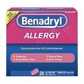 Benadryl Allergy, 25 mg, Ultratab Tablets, 24 ct.