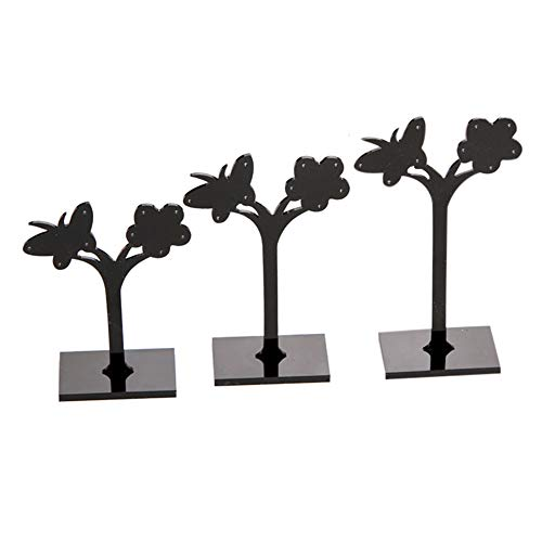 Yamalans 3pcs/Set Earring Ear Studs Jewelry Rack Display Stand Storage Hanger Holder Butterfly