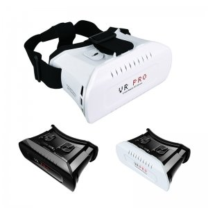 VR Pro Head Mount Virtual Reality VR 3D Glasses for 3.5-6.2 Smartphone White