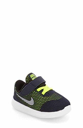 Nike 833992-403, Zapatos de Primeros Pasos Bebé-Niño, Azul (Obsidian / Metallic Silver / Volt / Black), 26 EU