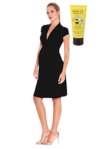 Bundle 2 Items Olian Lucy V-Neck Maternity Dress BLK M + Body Buzz 2 oz