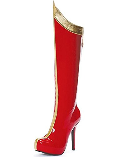 Sexy Red and Gold Superhero Boots Size 7 - Sexy Superhero Boot