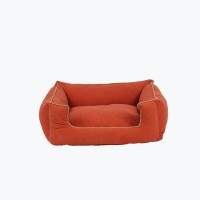 - Carolina Pet Microfiber Kuddle Lounge Low Profile Bed for Pets, Small, Apricot/Khaki