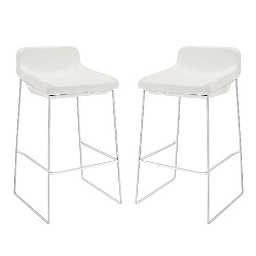 Cheap Modway Garner Bar Stool Set of 2 in White