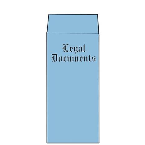 Amazon com : Blue Vellum Legal Document Envelopes, Top Opening