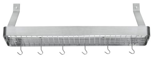 Cuisinart CRBS-36B Chef's Classic 36-Inch Rectangular Wall-Mount Bookshelf Rack, Brushed Stainless ()