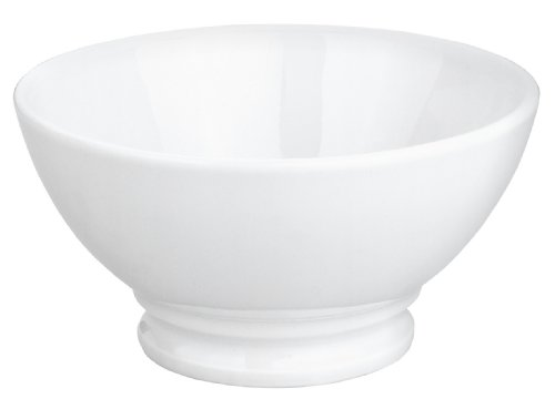 Pillivuyt 13-Ounce Traditional European Coffee Bowl, White