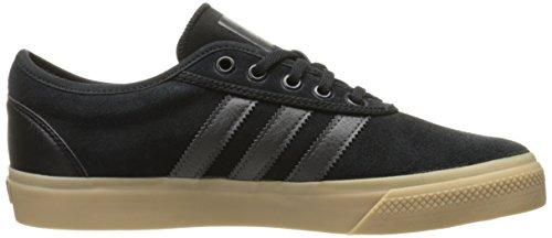 Adidas Adi-facilidad de zapatos del patín, Negro / negro / color escarlata, 4 M con nosotros Black/Solid Grey/Gum