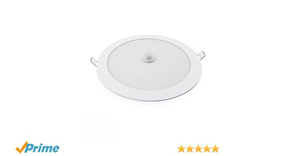 Downlight Led Empotrable Blanco con Sensor de Presencia 18 W: Amazon.es: Bricolaje y herramientas