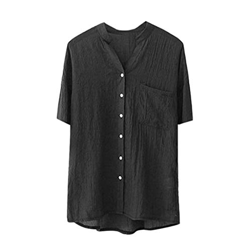 YKARITIANNA Women Stand Collar Solid Short Sleeve Shirt Casual Blouse Button Down Tops 2019 Summer -