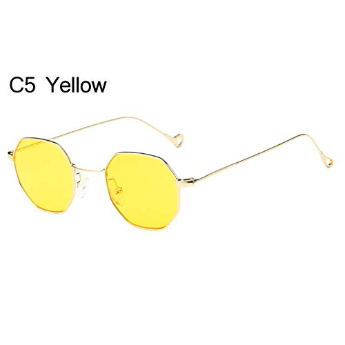 (YHEGV Small Sunglasses Women Men Vintage Little Alloy Frame Goggles Gradient Lens Eyewear Accessories Uv400)