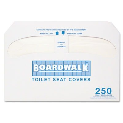 Boardwalk Premium Half-Fold Toilet Seat Covers, 20 Packs of 250 Covers per Case, Sold by the Case