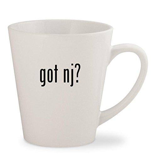got nj? - White 12oz Ceramic Latte Mug - Glass Flemington