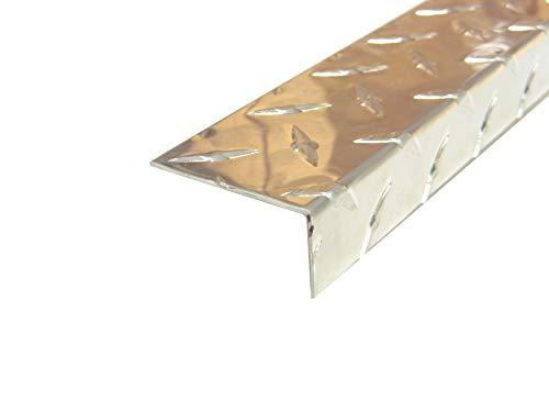 Aluminum Diamond Plate Angle .062 x 1 x 2 x 96 in. Offset 3003 UAAC (2pcs) | (1/16 x 1 x 2 x 96 in.)