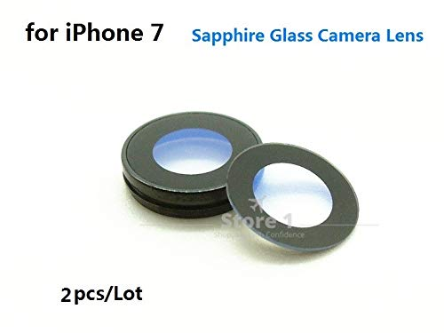 Mobile Phone Lenses - 2pcs/Lot Original for Apple iPhone 7 Camera Lens; Sapphire Crystal Single Glass with/Without Frame for iPhone 7 4.7 - by SINAM - 1 PCs from SINAM