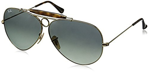 Ray-Ban Shooter RB3138 Sunglasses Gold / Light Grey Gradient Dark Grey 62mm & Cleaning Kit - Ray Rb3138 Ban