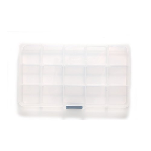 Shipwreck Beads Plastic Bead Storage Box with 15 Compartments, 4 by 7-Inch, Clear, 2-Pack by Shipwreck Beads