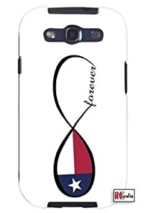 Cool Painting Forever Texas State Infinity Flag Unique Quality Soft Rubber Case for Samsung Galaxy S4 I9500 - White Case