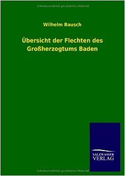 Book Ubersicht Der Flechten Des Grossherzogtums Baden