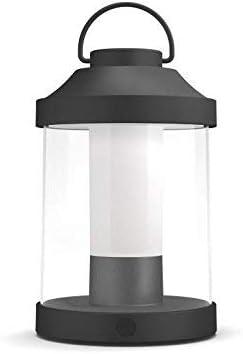 Philips Lighting Abelia Lampada da Tavolo da Esterno Senza Fili, LED Integrata, Nero, XL