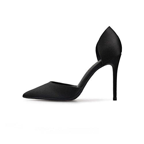 Stiletto Chaussures Noir Rouge Ladys Classic lgantes Pointed Ol Soire Pumps Mme De xqwIAtv