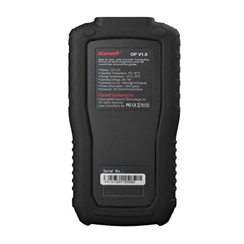 iCarsoft Multi-System Auto Diagnostic Tool OP V1.0 Opel Oil Reset (Black) by iCarsoft (Image #2)