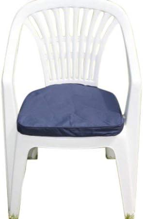 Cojín para muebles de jardín - Cojín en forma de D para silla de jardín de plástico - Color azul: Amazon.es: Jardín