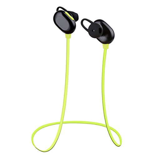Bluetooth Headphones, Haissky in-ear Noise Cancelling Sweatproof Fitness Running Sports Wireless Bluetooth Stereo Earphones Neckband Earbuds for iPhone iPad Samsung Android Phone Built-in Mic (Green)