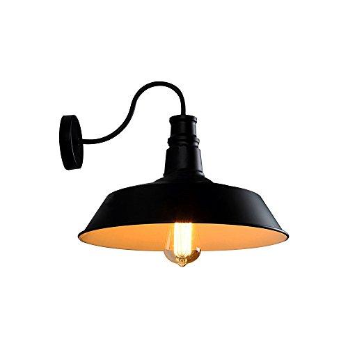 Coquimbo Einfach Abdeckung Wandlampe Wandleuchte Draußen Beleuchtung Wandleuchte für Haus Dekor ohne Birne, Schwarz