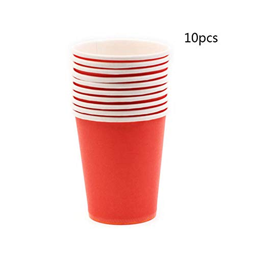 10Pcs Pure Colour Party Disposable Paper Cups Juice Cup DIY Decoration Shower Birthday Wedding Picnic Tableware Supply 7 250ml -