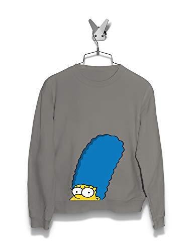 Women Hoodie & Sweatshirts | Crouching Marge | Streetwear | The Simpsons | (Marge Simpson Sweatshirt)