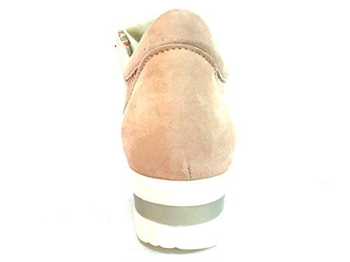 R20110 CARTA Scarpa donna Melluso sneaker zeppa pelle made in taly
