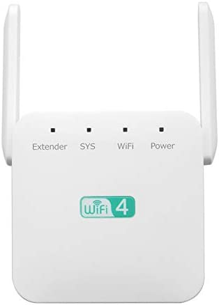 ZenBooster - WiFi Range Extender 1200Mbps, Wireless Signal Repeater Booster 2.4 & 5GHz Dual Band 4 Antennas 360° Full Coverage, Extend WiFi Signal to Smart Home Devices