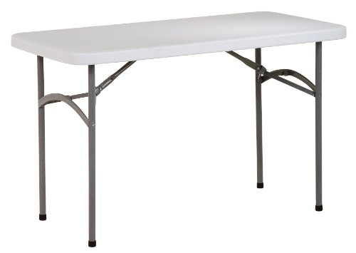 Work Smart Resin Multi-Purpose Table, 4-Feet Long (White Resin Table compare prices)