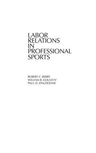 Labor Relations in Professional Sports: