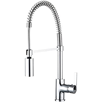 Enzo Rodi ERF7209251CP 10 Modern Commercial Kitchen Faucet With Pull Down  Sprayer,Polished