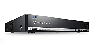 Amcrest 960H 8CH Video Security System - 960H DVR with 8 Channels, 1TB HD (Upgradable) for 6 Days of HD Recording (30+ Days at Lower Resolution Settings), USB Backup Feature (Certified Refurbished) by Amcrest