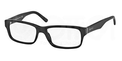 Prada Eyeglass Frames PR16MV 1BO1O1-55 - Matte Black - Shades Men Prada