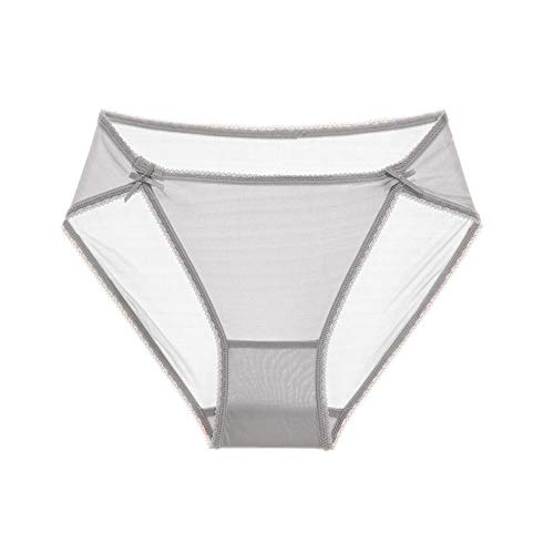 SilRiver Womens 100% Silk Bikini Panties, Sexy and Comfortable Hipster Briefs, Breathable Tanga Underpants, Summer Underwear(Silver Grey,Medium)