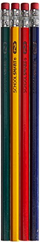 School Smart Number 2 Pencils with Latex Free Erasers - Pack of 144 - Assorted Colors