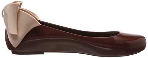 Bow Flat Melissa Burgundy Red Women's Space Pink Ad Love Ii Ballet 51558 0HEqg