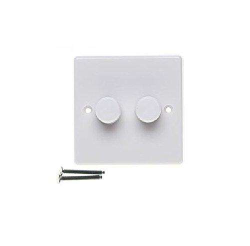 varilight jqp252w v pro white 2 gang led trailing edge. Black Bedroom Furniture Sets. Home Design Ideas