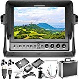 Neewer 663/S2 Field Monitor 3G-SDI and HDMI Input/Output, 7 inches, 800:1 Contrast, 1280x800 IPS, Work with F550 or LP-E6 Battery for DSLR Video Cameras Like Canon 5D3, Nikon D500, Sony A7II and More