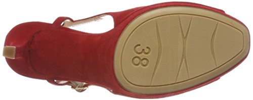 Toe Open Sandals Women's ks Tibet Red Red Unisa red twxFqIx