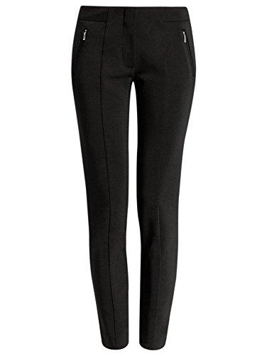 2900n Cerniere Nero Donna Pantaloni Ultra Aderenti Oodji Con qR0AFvwx