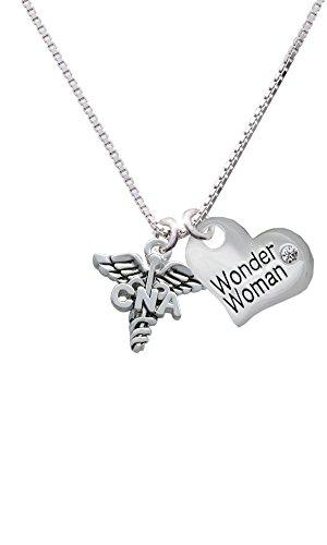 CNA Heart Necklace (Silver) - 4