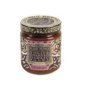 Pepper Roasted Salsa Desert (Desert Pepper 2 Olive Roasted Garlic Salsa, 16 Oz - 6 Per Case.)