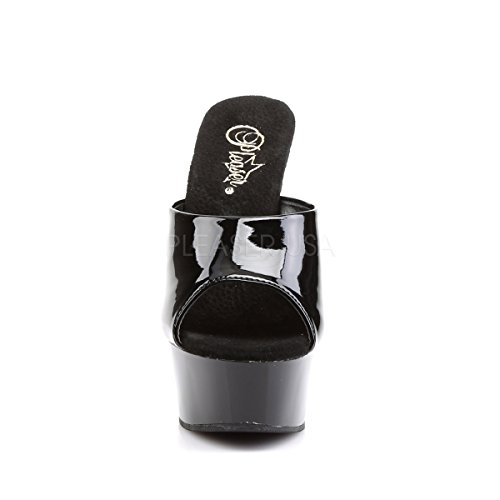 Peep black Platform Womens PleaserUSA Delight patent 601 Toe Slide 1wOA5qA