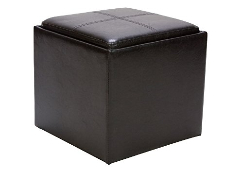 1PerfectChoice Organizer Kids Cube Storage Ottoman Footstools Poufs PU  Leather - Storage Ottomans & Poufs: Large & Small Ottomans With Storage